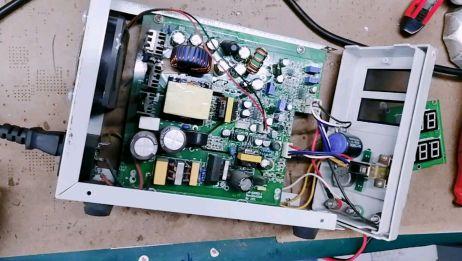 可调电源显示屏坏了,看看师傅是怎么完美改装的