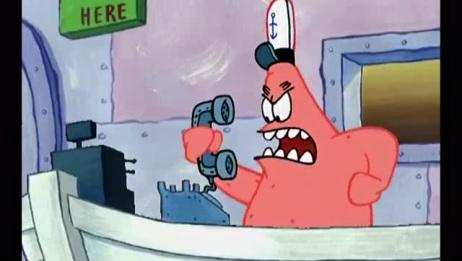 海绵宝宝:蟹老板看到派大星这样接电话,肯定会疯掉!