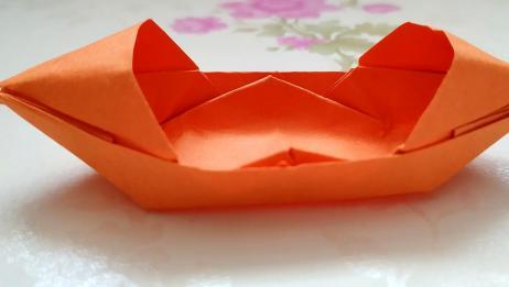 手工船怎么做?DIY带帐篷的小船折纸教程