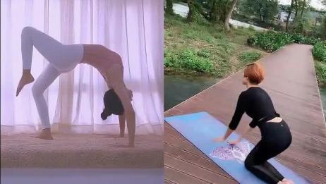 女神教你练瑜伽:帮助美化背部线条,变身甜美小姐姐!