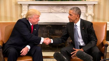 奥巴马忍不住出手后,特朗普气得直接开骂:他叛国叛国叛国
