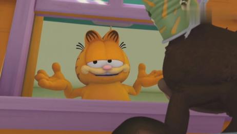 加菲猫:睡懒觉不起床,被吵醒还有起床气,加菲猫太任性了!