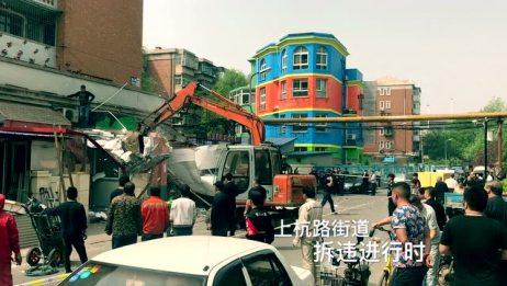 天津市河东区上杭路街道拆违进行时
