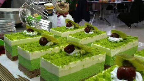 草坪慕斯蛋糕制作流程 绿茶慕斯