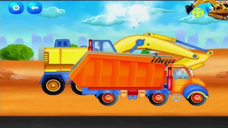 学习认知工程车 垃圾清理车改装大货车翻斗车 休闲益智游戏