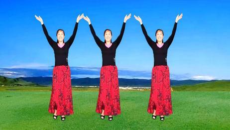 红姐正面演示《大众健身舞》歌好听舞好学