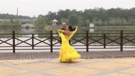 高安体育舞蹈协会交谊舞 歌在飞 表演 双人版