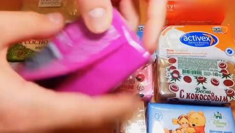 拆肥皂包装视频,感觉异常满足,声控福利系列