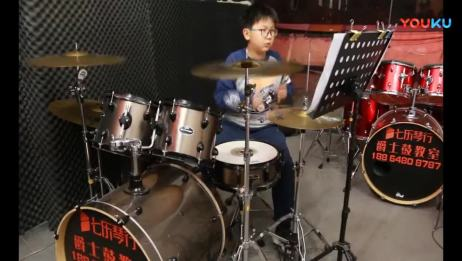 泰安七乐琴行 叶沐兴 架子鼓演奏《Baby》