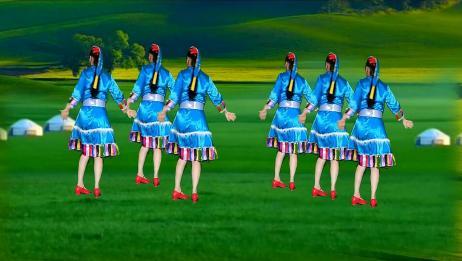 藏族舞蹈《我的九寨》歌声让人陶醉,舞蹈优美好看,背面更漂亮