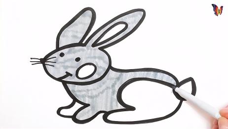 简易画教你画小灰兔