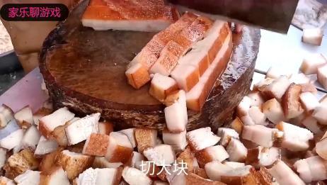 咱四川农村才有的九大碗坨坨肉,城里都吃不到,看着都流口水了!