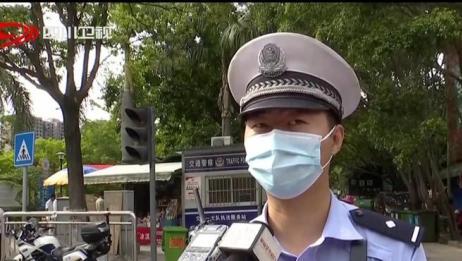 攀枝花:交警逆行 护送学生就医