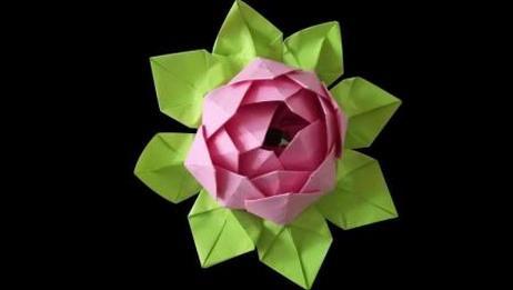 折一朵漂亮的莲花! 折纸花大全图解! 手工创意diy纸艺
