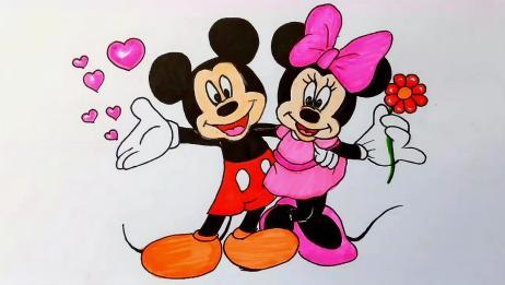 几分钟学会画米老鼠超简单的简笔画教程妈妈宝贝一起学