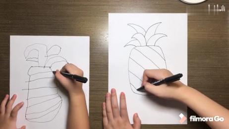 「一起画画吧」菠萝  儿童 简笔画