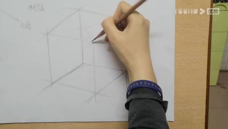 立方体的简单构图画法