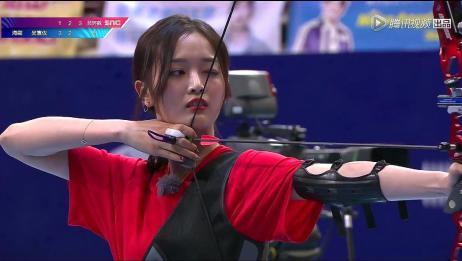 射箭吴宣仪PKSunnee,Sunnee3箭全部脱靶,吴宣仪排名倒数第二!