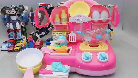 咪露妹妹的厨房炒菜做饭过家家的玩具
