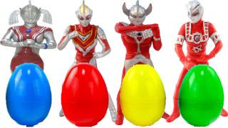 奥特曼奇趣蛋拼装人偶玩具大战怪兽