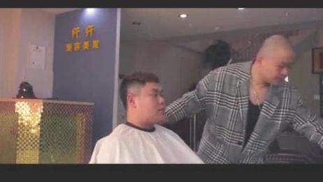 小伙理发店剪头发,说话能不能把舌头捋直了,这样根本没法沟通啊