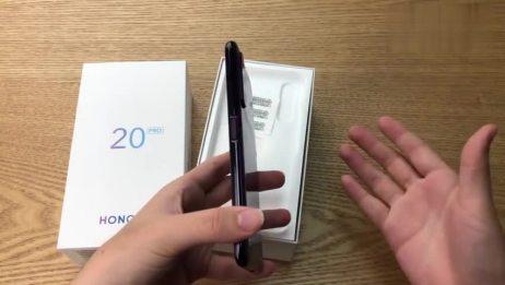华为手机 荣耀20PRO开箱上手,侧边指纹解锁的方式,还是非常方便的哦