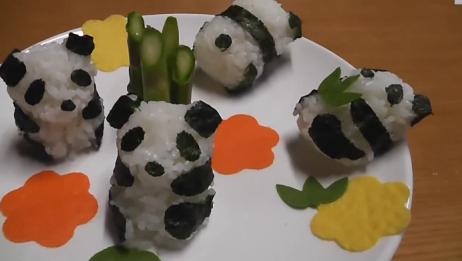 趣味创意食玩 制作小熊猫饭团