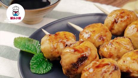 只需五分钟,就能做出这串不加淀粉的香浓纯鸡肉丸!