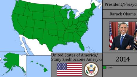 「历史地图」美国版图变迁史