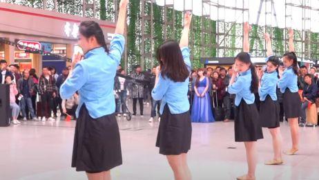 济南机场空姐快闪 空姐舞蹈